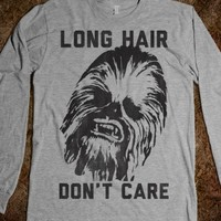 Long Hair Don't Care-Unisex Heather Grey T-Shirt