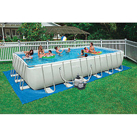 Intex  24 ft. x 12 ft. x 52 in. Rectangular Ultra Frame Pool Package