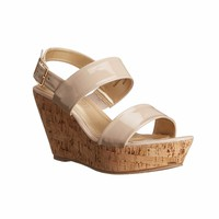 Polished Wedge Sandal
