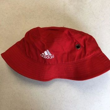 CREYONC. BRAND NEW ADIDAS RED BUCKET HAT SMALL/MEDIUM SHIPPING