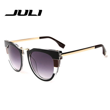 JULI Fashion Sunglasses Women Brand Designer Sun Glasses Gafas De Sol Women Cat Eye Vintage Oculos De Sol Feminino 156353C
