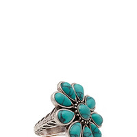 FOREVER 21 Faux Turquoise Cocktail Ring