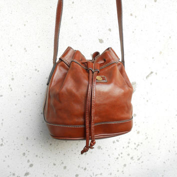 Vinatage Goldpfeil West Germany Bucket Crossbody Bag , Purse // Small
