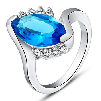 Silver Gemstone Accessories Ring = 5839555713