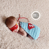 Superman Cape - Photo Props, Photography Prop, Newborn