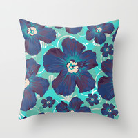 Hawaii Hawaii Throw Pillow by Anny Cecilia Walter