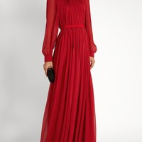 Gathered silk-mousseline gown | Maison Rabih Kayrouz | MATCHESFASHION.COM US