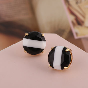 Accessory Resin Stripes Earring Stylish Jewelry [6573073735]