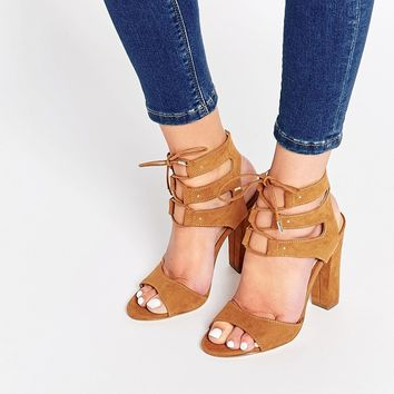Call It Spring Zigorwen Ghillie Block Heeled Sandals