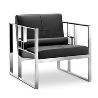 Westgate Lounge Chair BLACK/POLISHED STEEL