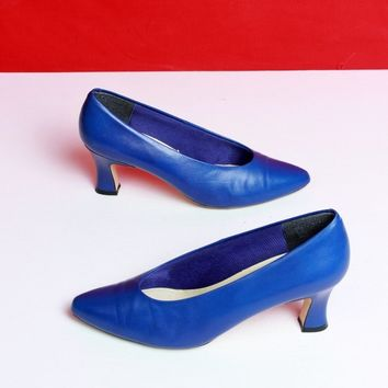 Cobalt Blue Leather Pumps / Size 7