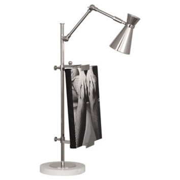 Jonathan Adler Bristol Table Lamp with Frame | Nickel