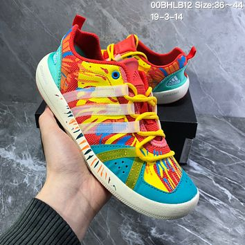 DCCK2 A987 Adidas Terrex boat Retro Camouflage breathable Wire Intervention Water Shoes Green Yellow  Red
