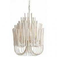 Jeffan Lamps Riviera Floor Lamp in White - LM-2236B-WH Size: - Ceiling Lights - Lighting