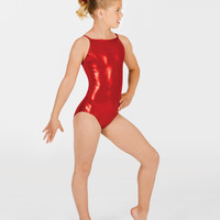 Free Shipping - Child Metallic Gymnastic Camisole Leotard by PERFECT BALANCE