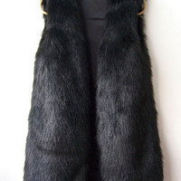 'The Alessandra'  Fur Sleeveless  Vest