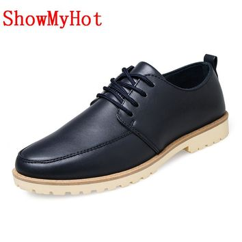 ShowMyHot New brand Mens British Oxford Dress Shoes male brogue Zapatos Hombre shoes lace up carved businese shoes