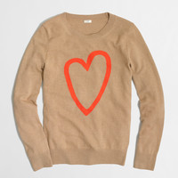 Factory intarsia heart sweater : crewnecks & boatnecks | J.Crew Factory