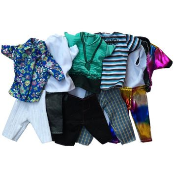LeadingStar Fashion Casual Wear Doll Clothes Tops Pants Outfit for Barbie's Boy Friend Ken Doll