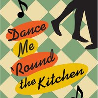 Kitchen art retro print Dance Me Round the Kitchen 11 by Visuaria