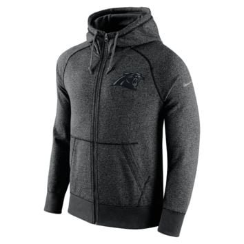 Nike AW77 Gridiron Grey Full-Zip (NFL Panthers) Men's Hoodie Size Large (Black)