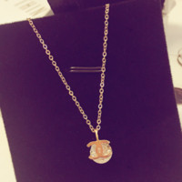 CHANEL New Fashion Necklace Zircon Crystal Diamond Necklace Women