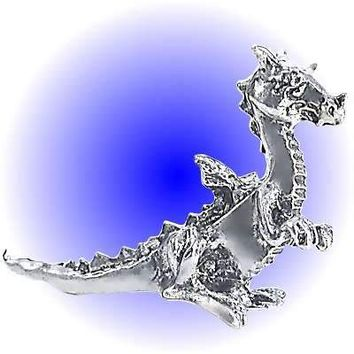 Traveling Dragon pewter figurine  Lead Free.