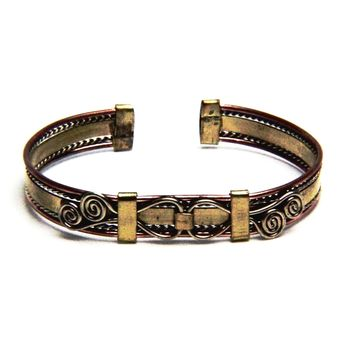 Tribal Copper Bangle Bracelet