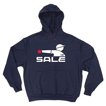 "Chris Sale Chicago White Sox ""Old School Logo Throwing"" Hooded Sweatshirt ADULT 3XL"