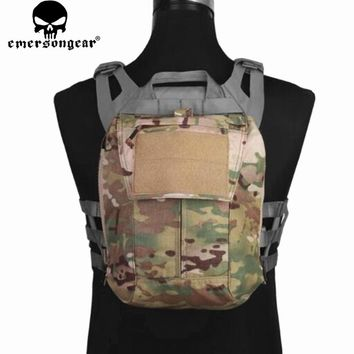 Emersongear Tactical Pack Zip-on Panel Multicam Plate Carrier Zip on Back Bag Hydration Carrier for CPC NCPC JPC 2.0 AVS Vest