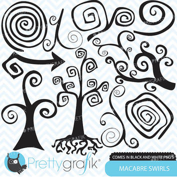 curly swirls clipart for scrapbooking, commercial use, vector graphics, digital clip art, digital images - PGCLPK507