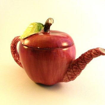 Vintage Seymour Mann Apple Teapot by backhomevintage on Etsy