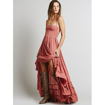 2018 Beach Backless Strappy Maxi Dress