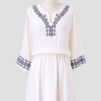 Canyon Trails Embroidered Dress