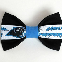 Carolina Panthers Dog Bow Tie