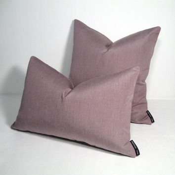 NEW! Lilac Pillow Cover - Indoor Outdoor - Modern - Pastel Mauve - Lavender Orchid - Decorative - Dusk Sunbrella Cushion - 16 18 20 inch