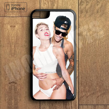 Miley Cyrus and Justin Bieber Plastic Phone Case For iPhone 6 Plus More Style For iPhone 6/5/5s/5c/4/4s iPhone X 8 8 Plus