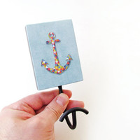 Geometric Anchor Wall Hook - Beach house item - Nautical decoration - Geometric Anchor hook