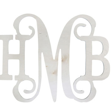 Vine Wood Monogram Wall Hanging