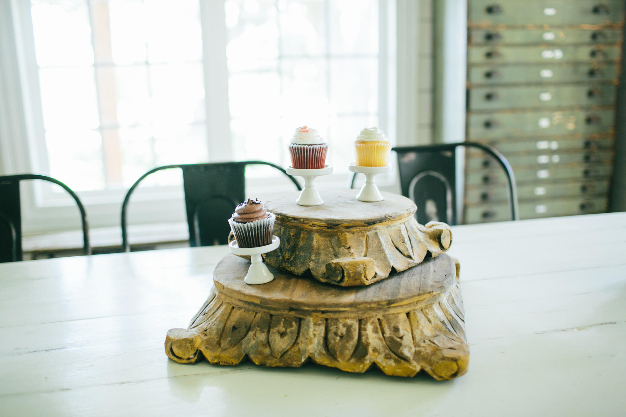 Carved wooden pedestal the magnolia from magnoliahomes