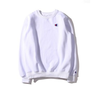Champion sweater small plus velvet loofers White