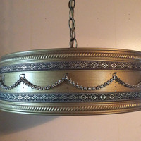 Mid Century Pendant Light 1940s Kitchen Light Dining Room Light Bedroom Drum Style