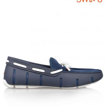 SWIMSLACE LOAFER - NAVY/WHITE
