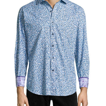 Beachpoppy Floral-Print Sport Shirt,
