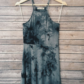 Brooke Tie Dye Dress (Grey)