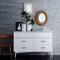Mid-Century 6-Drawer Dresser - White