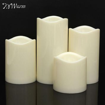 KiWarm Flameless Battery Operated LED Candles Tealight Night Lights Lamp for Wedding Birthday Party Christmas Home Decor