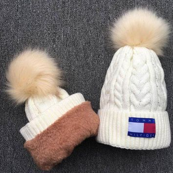 PEAPON  Tommy Hilfiger ' Knit And Pom Hat Cap