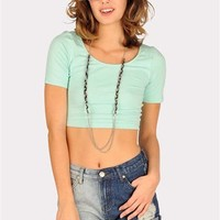 Cory Crop Top - Mint