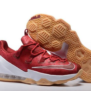 spbest Nike Men's Low Lebron 13 Basketball Shoes Red 40-46
